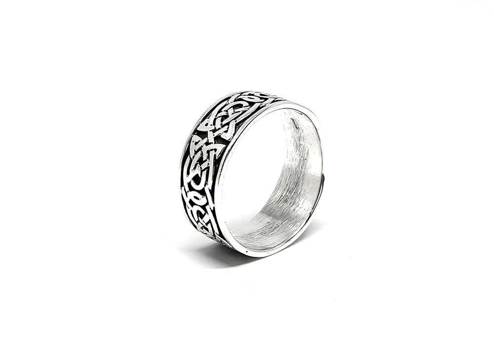 Inel Argint Barbati Cu Ornamente Celtice Magazin Online De