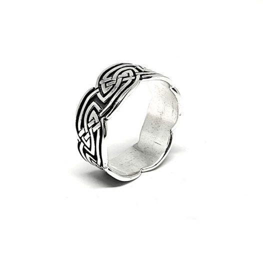 inel barbati argint design celtic