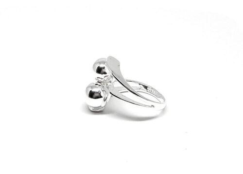 inel cu design cu bobite argint