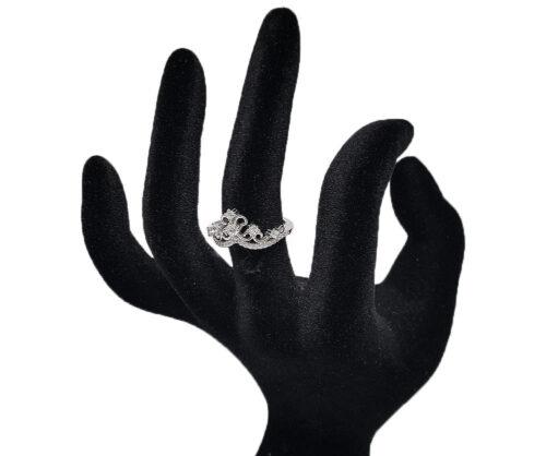 inel deosebit cu coroana argint