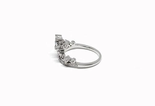 inel coroana superba din argint
