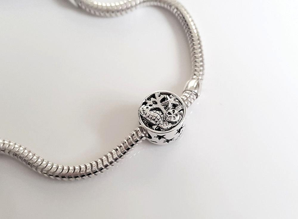 charm argint motive marine