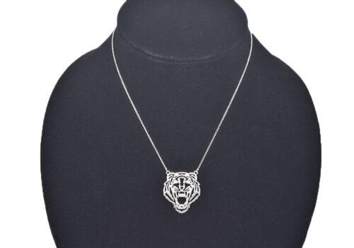 colier cap de tigru cu zirconii
