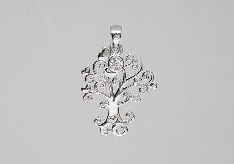 pandantiv copacul vietii cu inimi