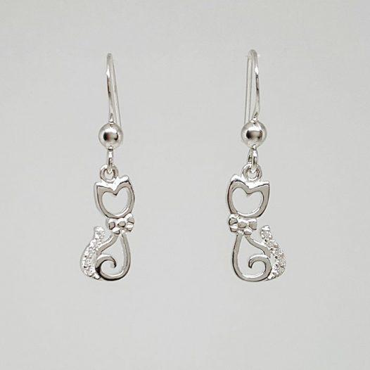 cercei pisicute dragute argint