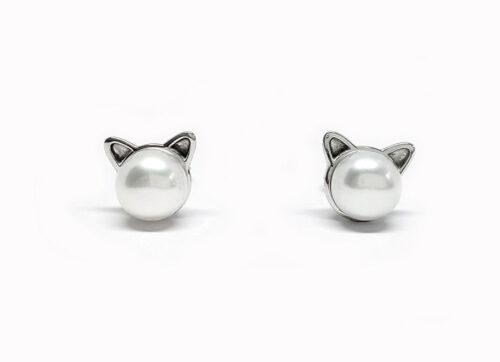 cercei pisicute din argint