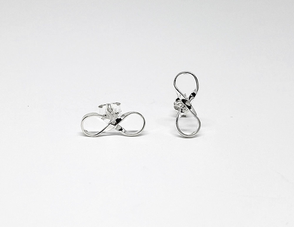 cercei argint simbol infinit