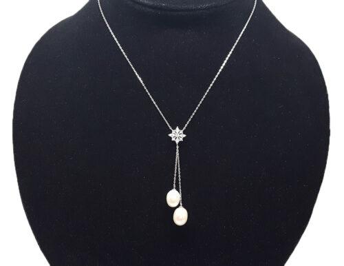 colier din argint cu perle naturale