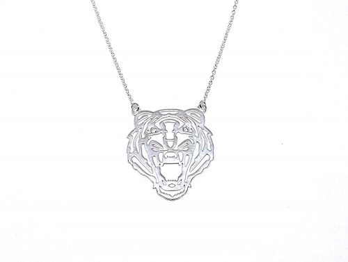 colier argint cap de tigru