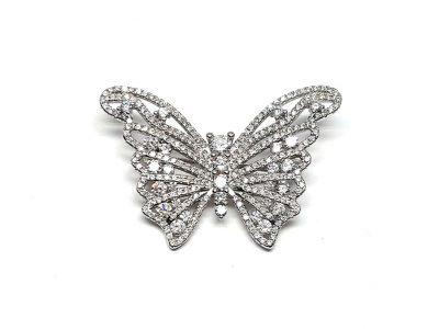 brosa fluture argint rodiat