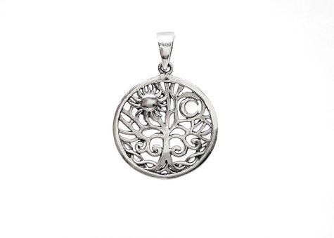 medalion copacul vietii soare si luna