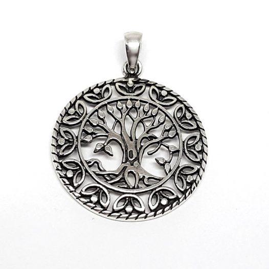 medalion argint antichizat copacul vietii