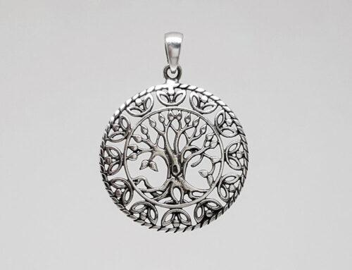 copacul vietii argint vintage