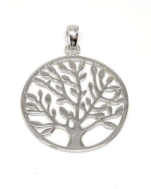 medalion copacul vietii argint 925