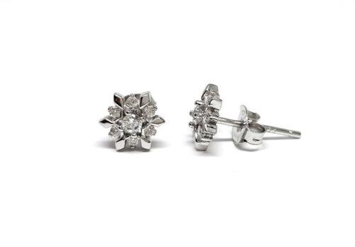 bijuterii argint cercei flori de zapada