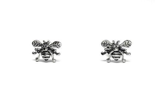 cercei din argint cu albine