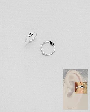 cercei ear cuff argint vintage