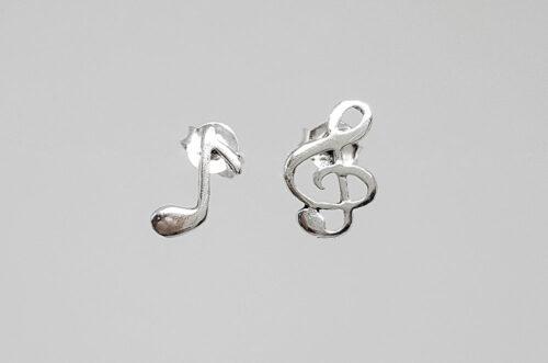 cercei note muzicale argint