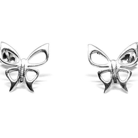 cercei fluturi simpatici argint