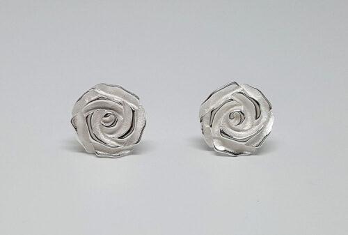cercei trandafiri special argint