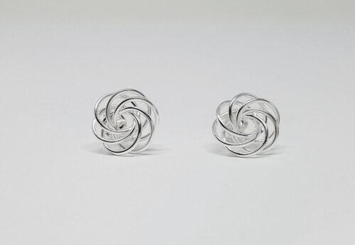 cercei flori fire din argint