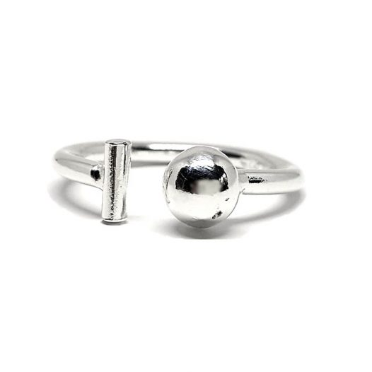 inel argint elemente geometrice