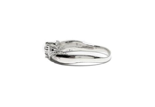 inel midi argint si cubic zirconia