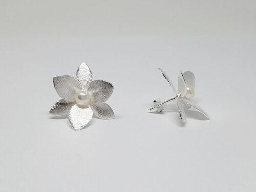 cercei de mireasa cu flori