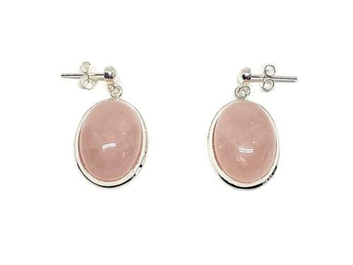 cercei eleganti din cuart roz