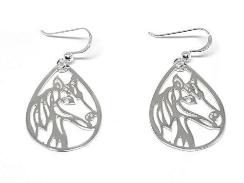 cercei din argint cu cai