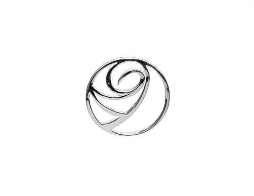 pandantiv rotund cu val din argint