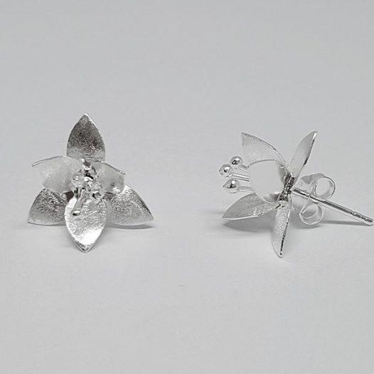 cercei flori superbe din argint