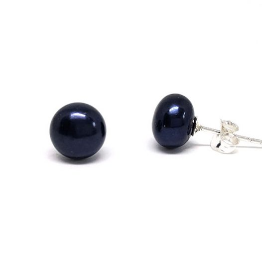 cercei bobite perle negre
