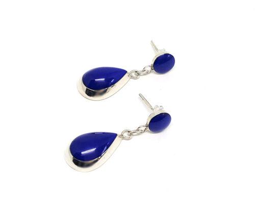 cercei casual cu lapis lazuli