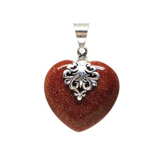 pandantiv inima din piatra soarelui