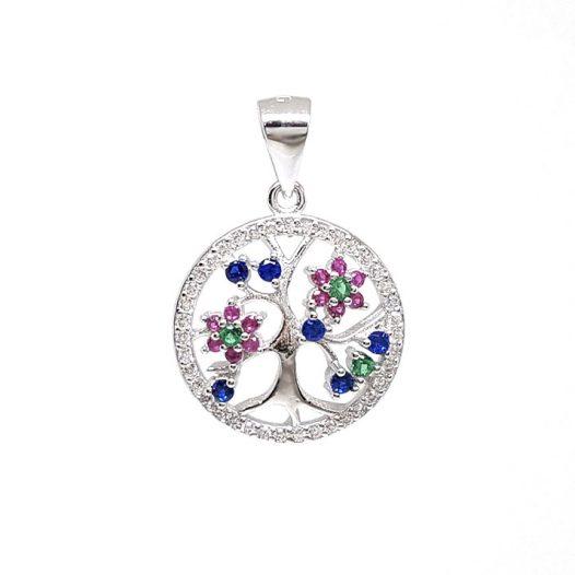 medalion Copacul vietii cu flori