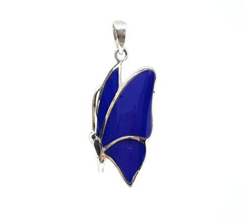 pandantiv fluture din lapis lazuli