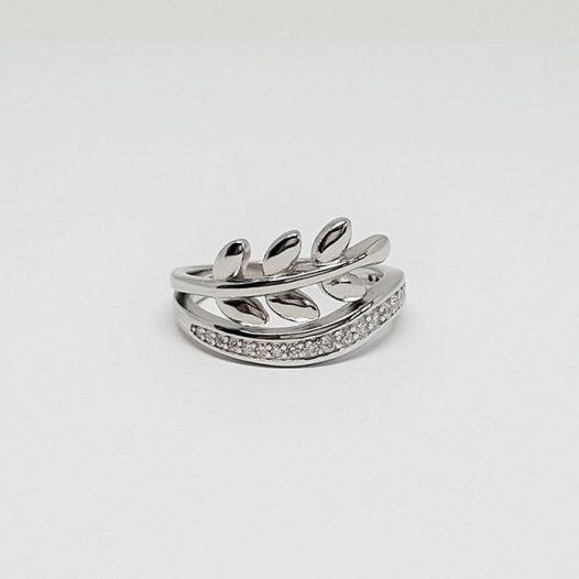 Inel din argint model crenguta