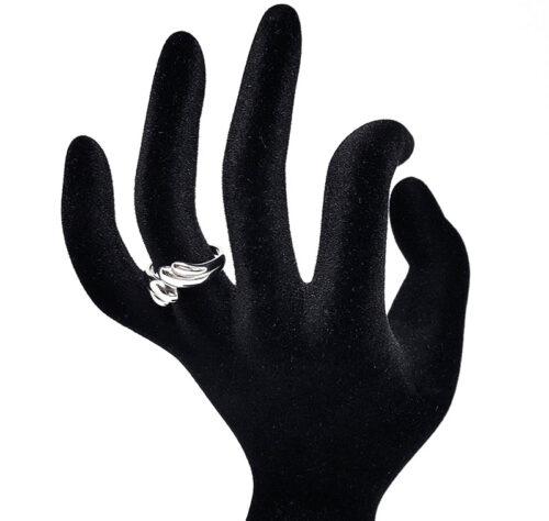Inel din argint rodiat feminin