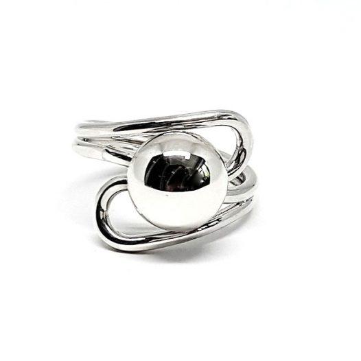 inel cu bobita din argint
