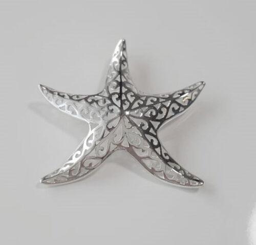 stea de mare din argint
