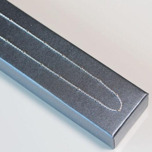 lant din argint cu minicuburi