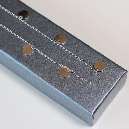 colier cu banuti din argint