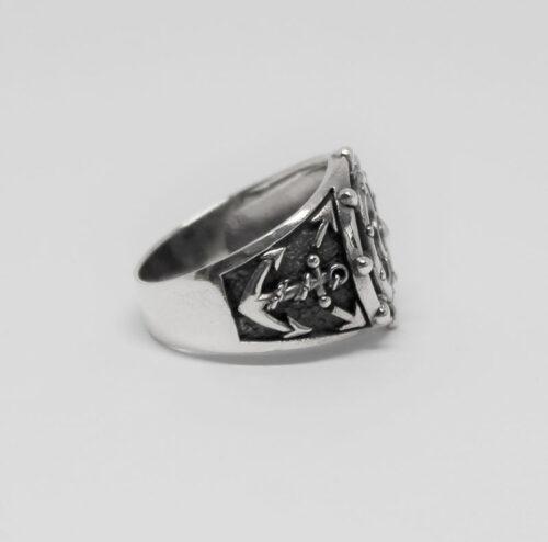 inel cu ancore din argint
