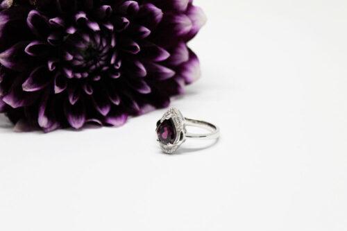 inel din argint cu rodiu