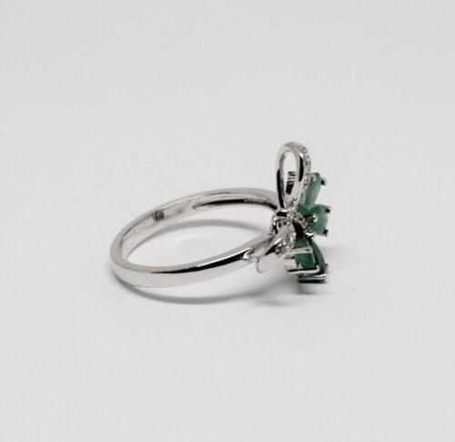 inel din argint rodiat cu fluture
