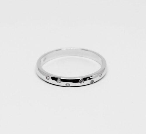 verigheta din argint cu zirconii