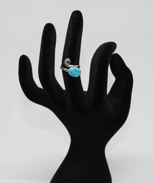 inel din argint cu piatra turcoaz