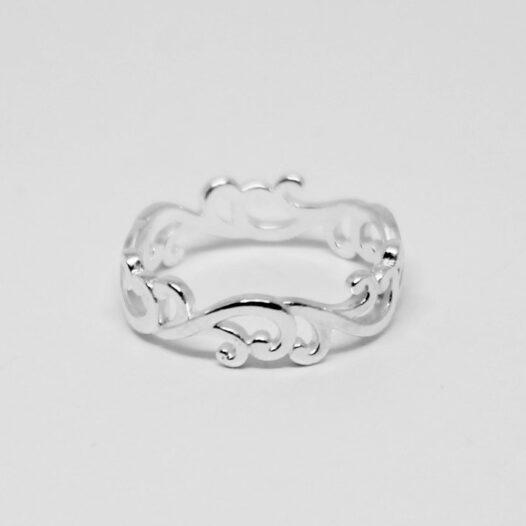 inel din argint inspirat de natura