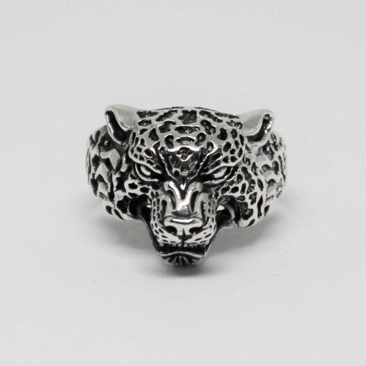 inel cap de leopard